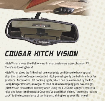Patented Hitch Vision | Why Choose Cougar | Gousin Gary RV Center