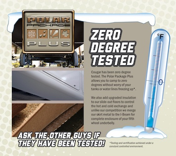 Zero Degree Tested | Why Choose Cougar | Gousin Gary RV Center